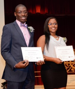 CYC's 2014 Outstanding Students Robert McMurray and Alexius Golden