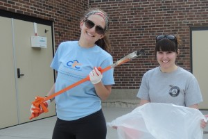 Global Youth Service Day - CYC Career Specialist Stephanie Weaver and CYC AmeriCorps College Guide Ashley Jarvis